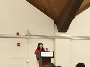 keynote speaker Helen Gym