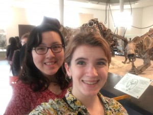 me with fellow banter blogger Kirsten Adams on our museum anthropology field trip to the American Museum of Natural History in NYC